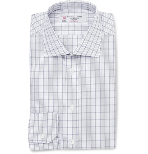 Slim-Fit Check Cotton Shirt by Turnbull & Asser in The Proposal