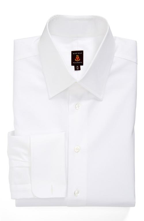 Regular Fit Solid Dress Shirt by Robert Talbott in The Judge