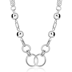 Hoop Circle Collar Necklace by Nykkola in Sisters