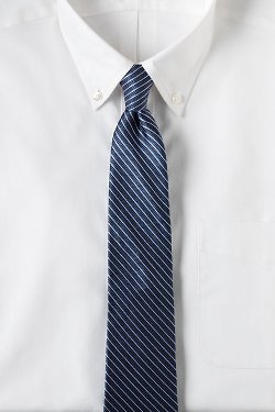 Silk Texture Stripe Necktie by Lands End in John Wick