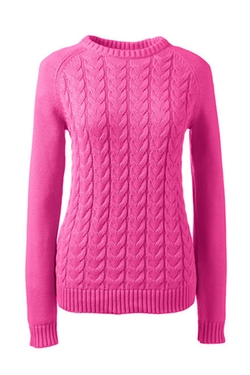 Women's Petite Drifter Cable Sweater by Land's End in Unbreakable Kimmy Schmidt