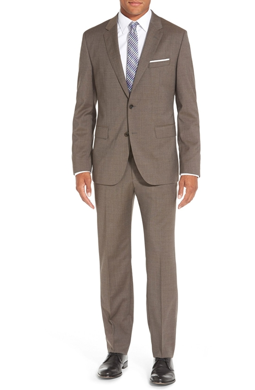 'Johnstons/Lenon' Trim Fit Solid Wool Suit by Boss in Mamma Mia!