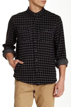 Knit Jacquard Work Long Sleeve Regular Fit Shirt by Burkman Bros in Neighbors 2: Sorority Rising