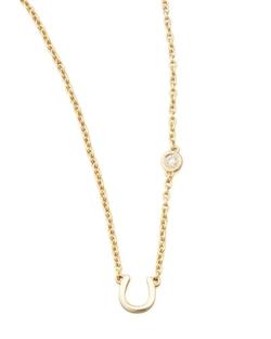 Horseshoe & Single-Diamond Necklace by SHY by Sydney Evan in Pretty Little Liars