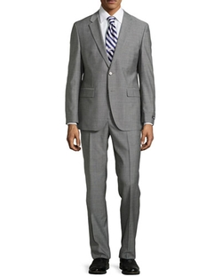 Two-Piece Neat Wool Suit, Light Gray by Neiman Marcus in Bridge of Spies