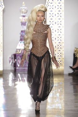Gold Braided Top by The Blonds in Empire