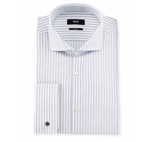 Jaiden Track-Stripe Dress Shirt by Boss Hugo Boss in Ballers - Season 2 Episode 10