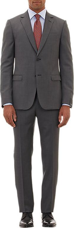 Micro Birdseye-Stitch Two-Button Suit by Z Zegna in Bridge of Spies
