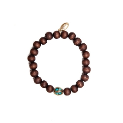Wholesome & Stability Wood Bead Bracelet by Open Sky in Twilight