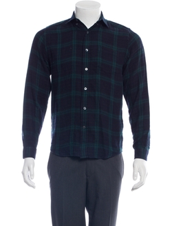 Plaid Button Up Shirt by Ami Alexandre Mattiussi in Thor