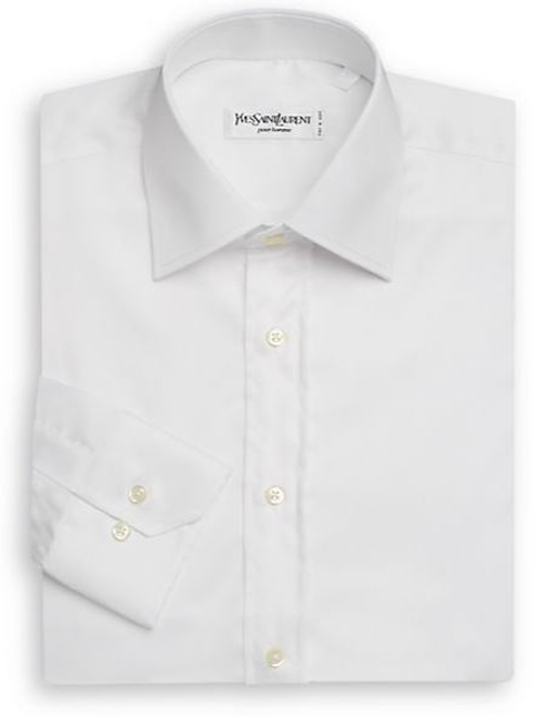 Solid Cotton Dress Shirt by Yves Saint Laurent in Safe House