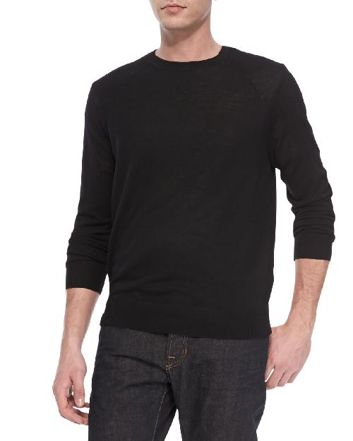 Long Sleeve Lightweight Merino Wool Sweater by Vince in Captain America: The Winter Soldier