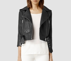 Brooklyn Leather Biker Jacket by All Saints in Pretty Little Liars