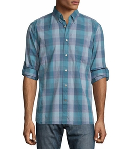 Check Roll-Tab Sport Shirt by John Varvatos Star USA  in The Bachelorette