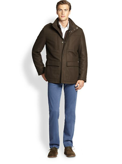 Cashmere Field Jacket by Saks Fifth Avenue Collection in The Expendables 3