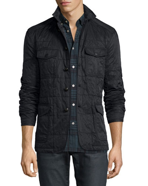 Quilted Button-Down Utility Jacket by John Varvatos Star USA in The Good Wife - Season 7 Episode 9