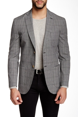 Bond Plaid Two Button Notch Lapel Jacket by JKT New York in Modern Family