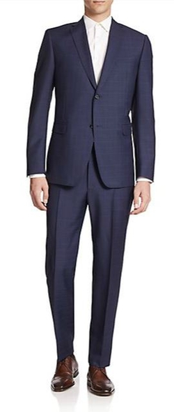 Two-Button Windowpane Suit by Z Zegna in Suits