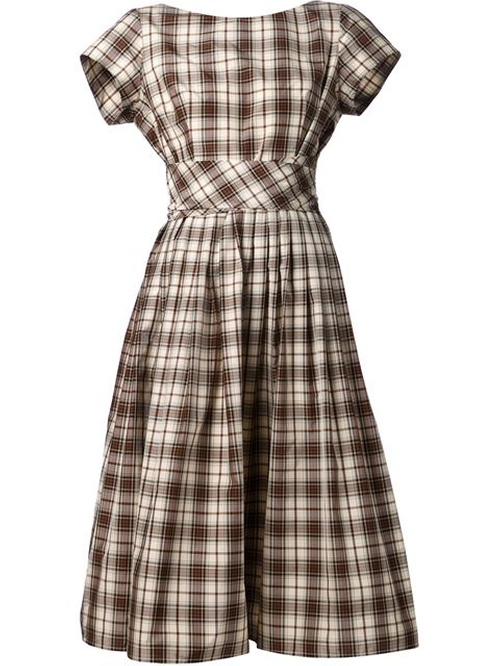 Checked Flared Dress by Michael Kors in Sex and the City