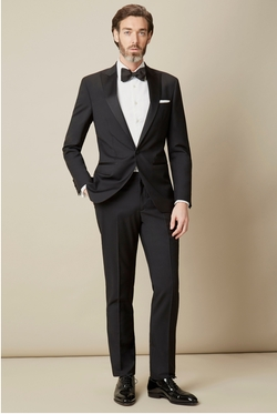 Peak Lapel Tuxedo Suit by Hackett Londan in Me Before You