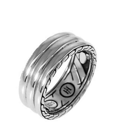"""Bedeg"" Silver Band Ring by John Hardy in A Walk in the Woods"