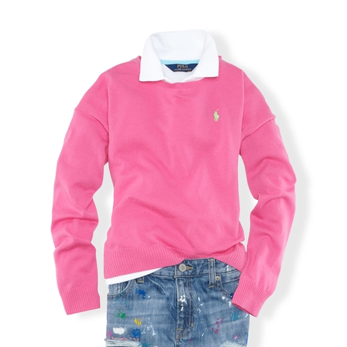 Slouchy Pullover Sweater by Polo Ralph Lauren in Boyhood