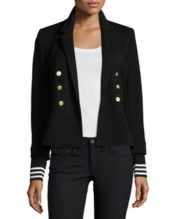 College Striped-Cuff Blazer by Smythe in Mistresses