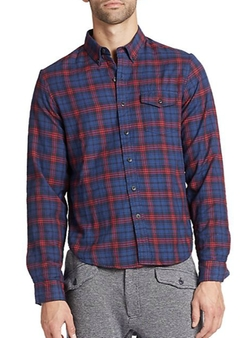Plaid Jersey Sportshirt by Burkman Bros in Brooklyn Nine-Nine