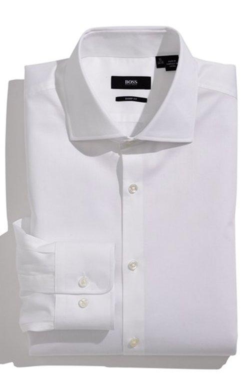 Miles Sharp Fit Tonal Stripe Cotton Dress Shirt by Boss Hugo Boss in The Secret Life of Walter Mitty