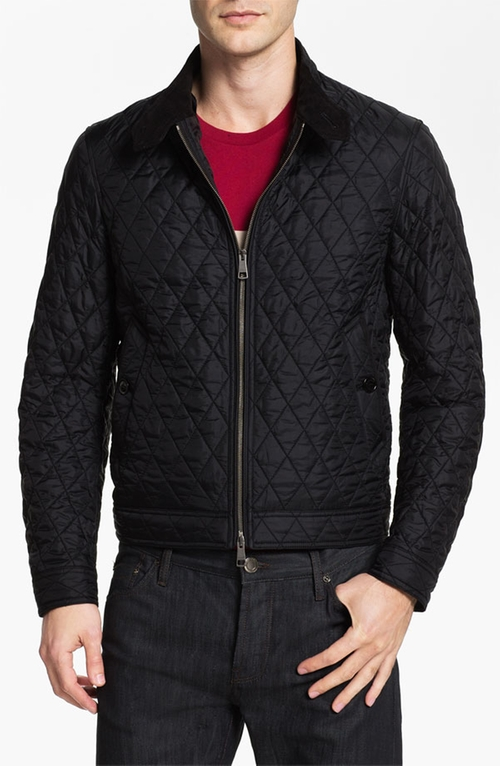 'Howson' Quilted Bomber Jacket by Burberry Brit in Survivor
