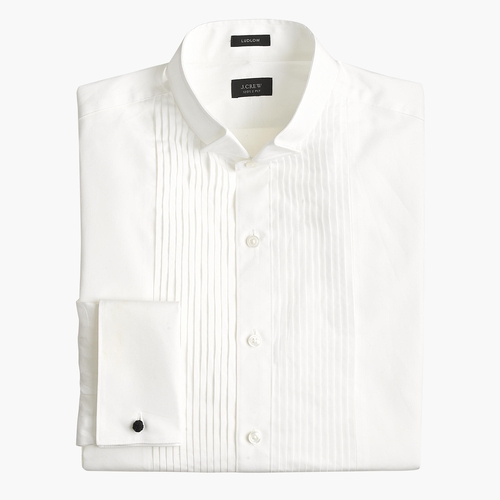 Ludlow Wing Collar Tuxedo Shirt by J. Crew in On Her Majesty's Secret Service