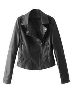 Zip Biker Jacket with Studded Lapel by Choies in Ouija