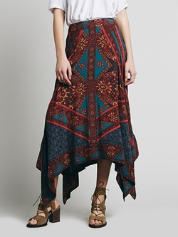 Traveler Print Maxi Skirt by Free People in Ricki and the Flash