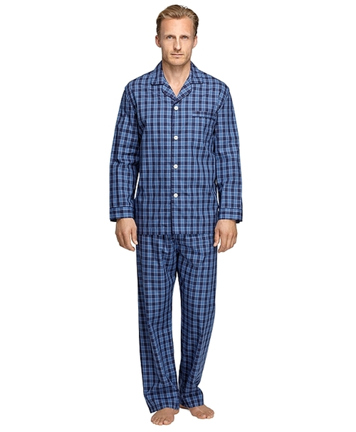 Buffalo Check Pajamas by Brooks Brothers in Black-ish - Season 2 Episode 9