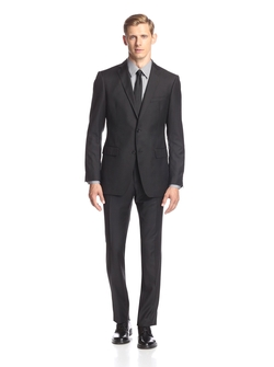 Jake Super Fine Stripe Suit by John Varvatos in Arrow