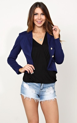 Airplane Mode Knit Blazer by Styles For Less in Trainwreck