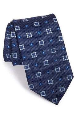 Geometric Silk Tie by David Donahue in Nashville