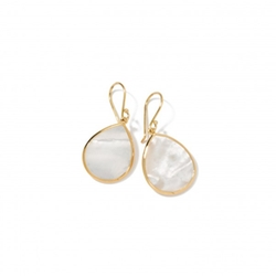 Gold Polished Rock Candy Mini Teardrop Earrings by Ippolita in A Walk in the Woods