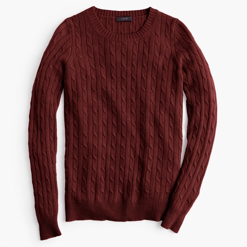 Cambridge Cable Crewneck Sweater by J.Crew in The Mindy Project