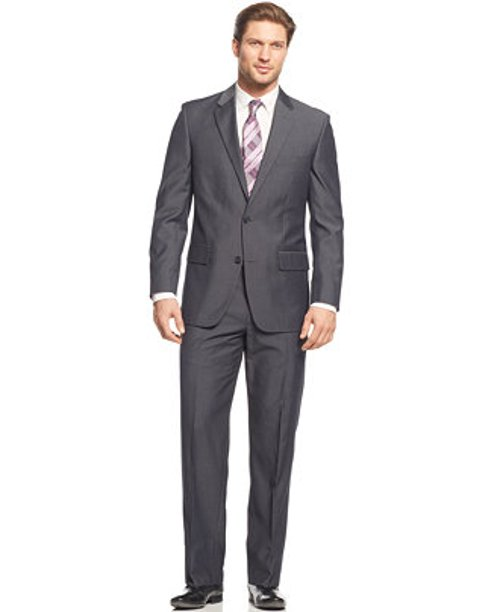 Charcoal Solid Suit by Alfani in Limitless
