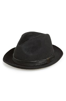 Wool Felt Fedora Hat by John Varvatos Star USA in Sherlock Holmes: A Game of Shadows