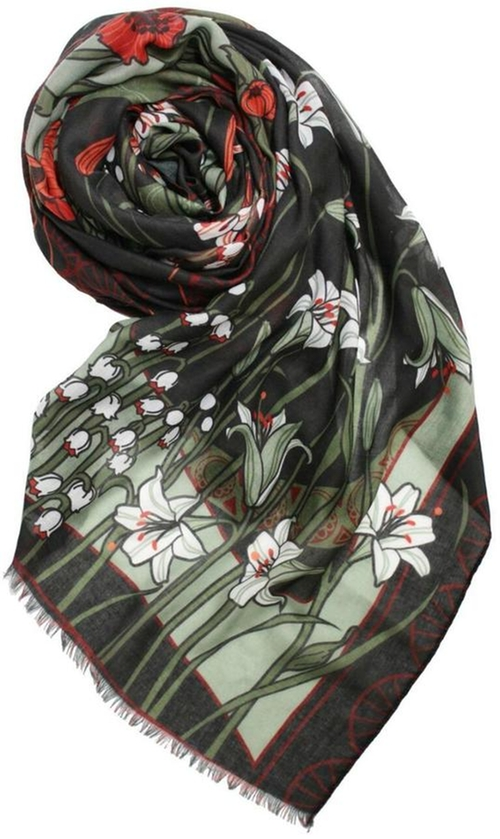 Art Nouveau Scarf by Printed Village in Suicide Squad