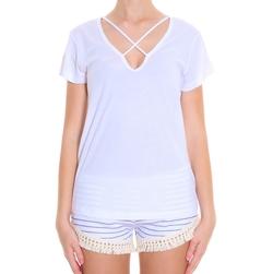 Cross Front T-Shirt by LNA in Arrow