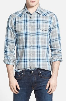 Regular Fit Plaid Western Shirt by Lucky Brand in The Best of Me