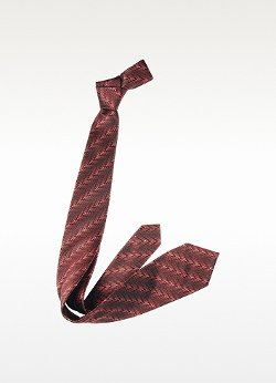 Diagonal Stripe Woven Silk Narrow Tie by Missoni in Birdman