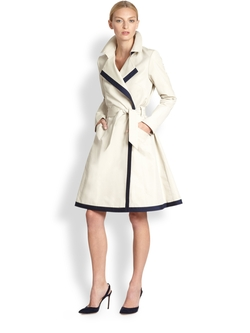 Contrast-Trim Trenchcoat by Martin Grant in The Intern