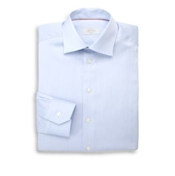 Slim-Fit Solid Twill Dress Shirt by Eton of Sweden in Lethal Weapon