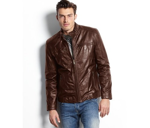 Calf Leather Moto Jacket by Marc New York in Run All Night