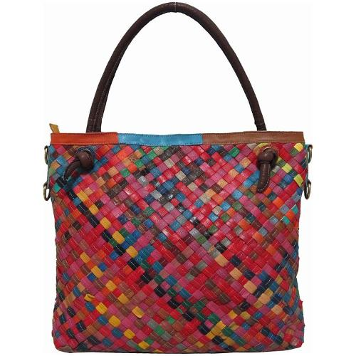 Rainbow Weaver Tote Bag by AmeriLeather in St. Vincent