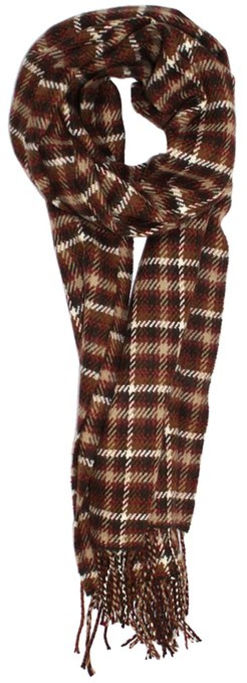 Classic Cashmere Feel Micro Check Plaid Scarf by Truman & Sons in Only God Forgives